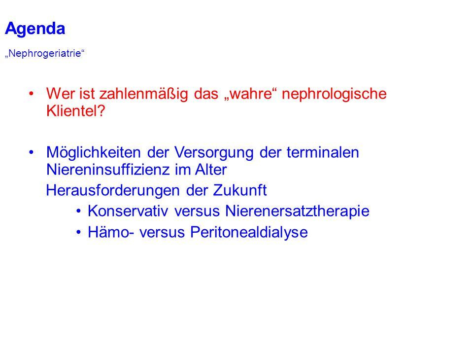 Prävalenz der CKD ist altersabhängig O´Hare, Ann Int Med 2009
