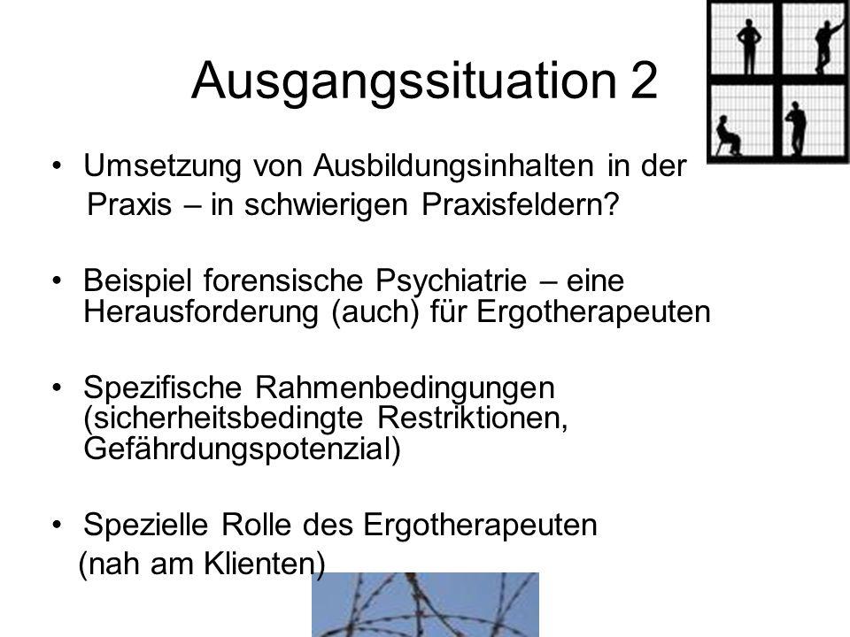 Fragestellungen 1.In welchem Umfang werden ergotherapeutische Modelle / Methoden eingesetzt.