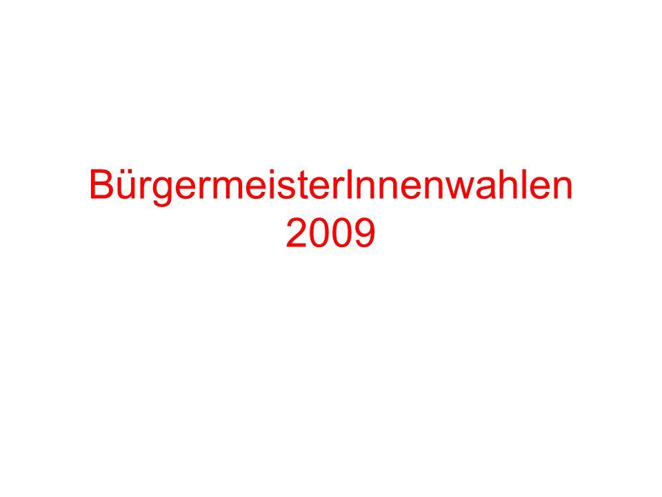BürgermeisterInnenwahlen 2009