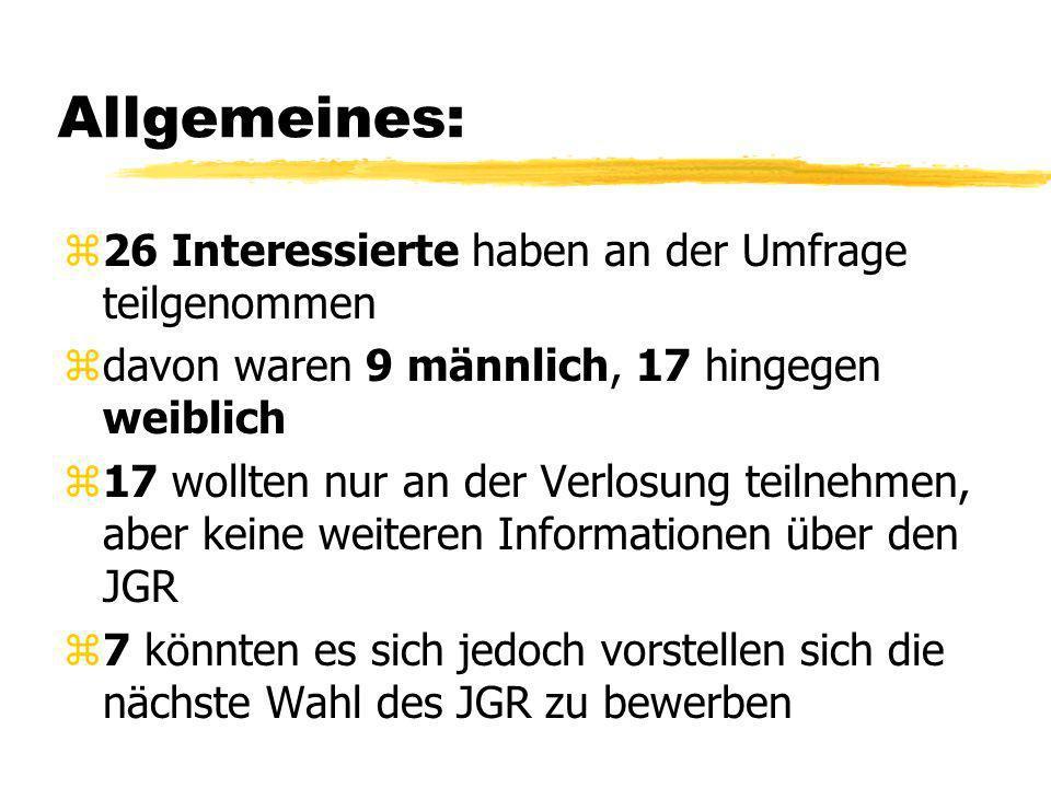 Umfrage des JGR Auf der Ausbildungsmesse am 13.06.2008