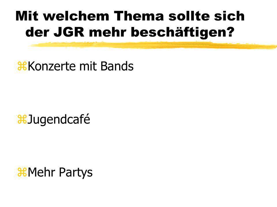 Wie erfährst Du von den Veranstaltungen des JGR