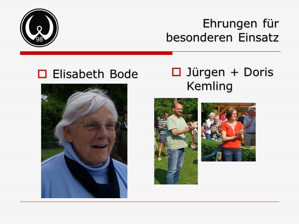 Ehrungen für besonderen Einsatz Elisabeth Bode Jürgen + Doris Kemling