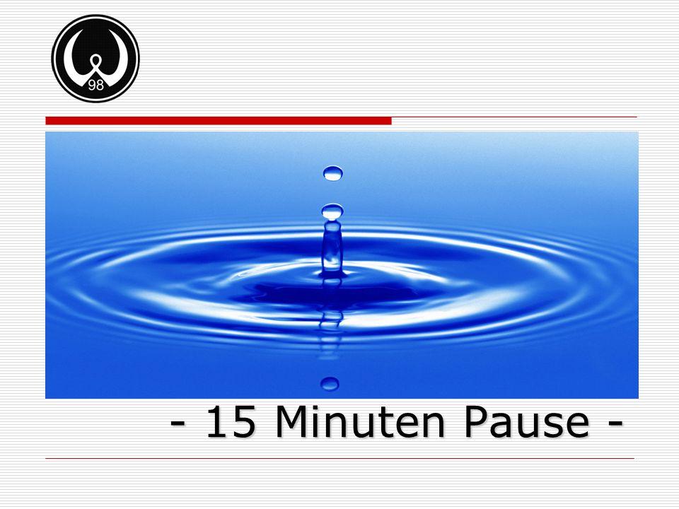 - 15 Minuten Pause -