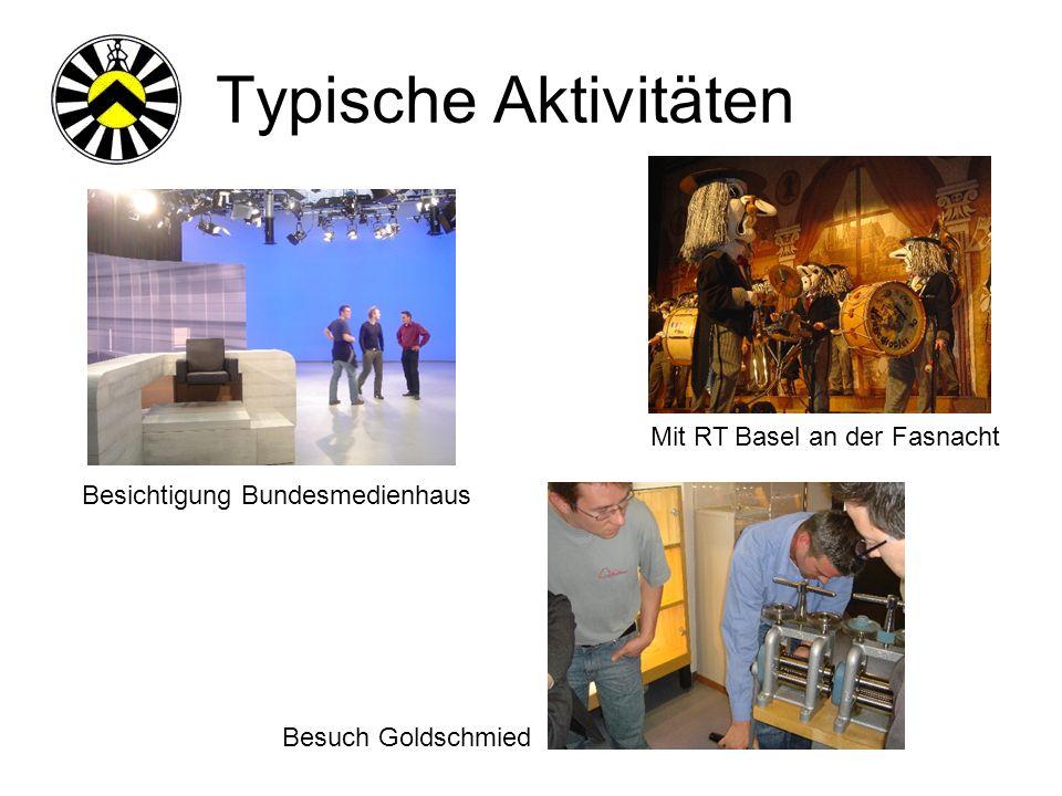 Typische Aktivitäten Besichtigung Bundesmedienhaus Mit RT Basel an der Fasnacht Besuch Goldschmied