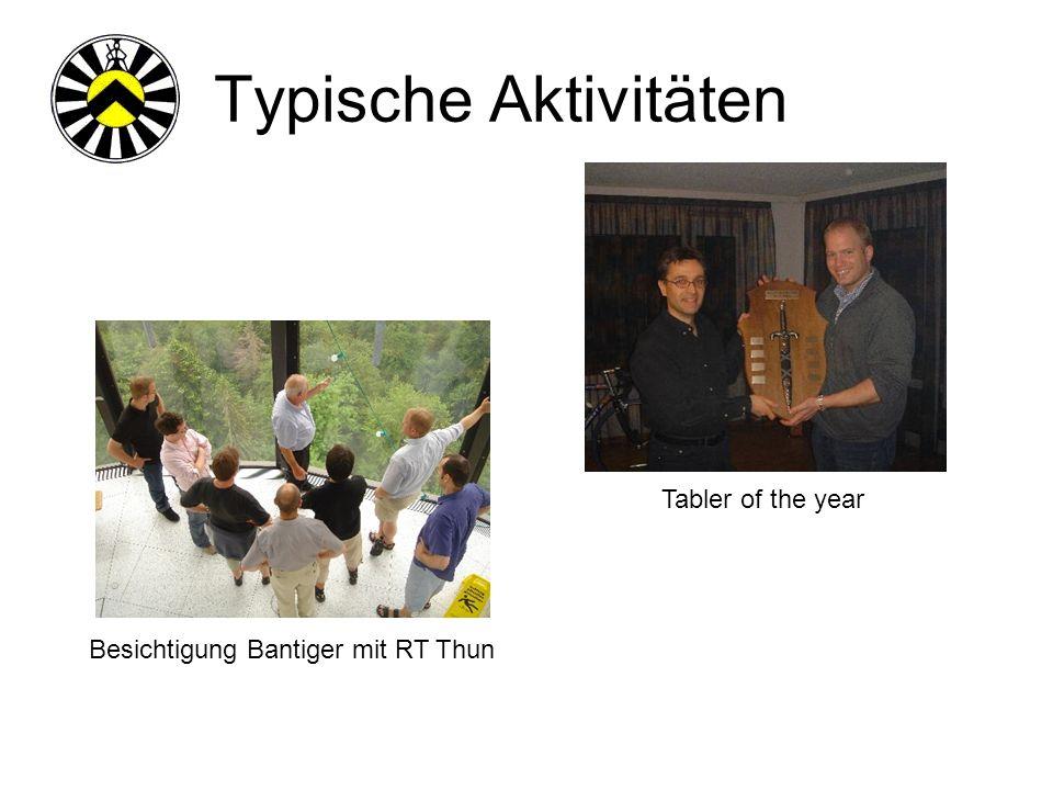 Typische Aktivitäten Fussballspiel gegen RT BurgdorfEishockey Match gegen RT Langnau