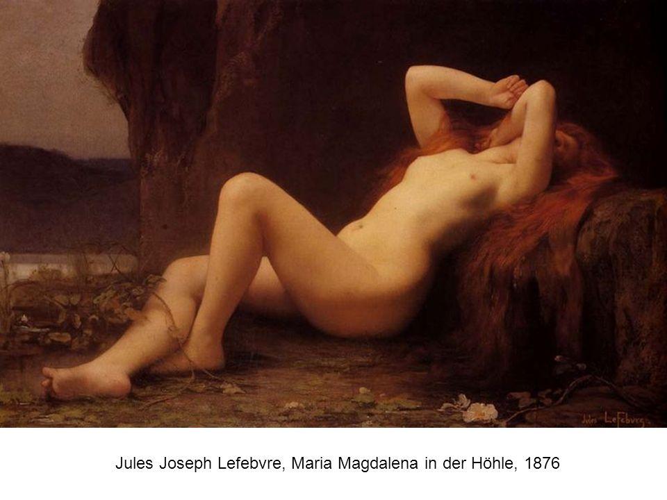 Jules Joseph Lefebvre, Maria Magdalena in der Höhle, 1876