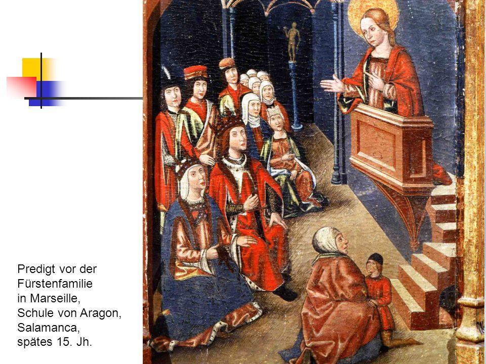 Predigt vor der Fürstenfamilie in Marseille, Schule von Aragon, Salamanca, spätes 15. Jh.