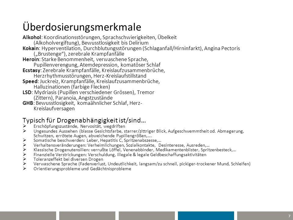 28 Side-step Intravenöser Konsum Vgl. Österreichweit 2011: ca. 4.500.000 Spritzen