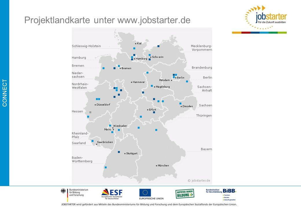 CONNECT Projektlandkarte unter www.jobstarter.de