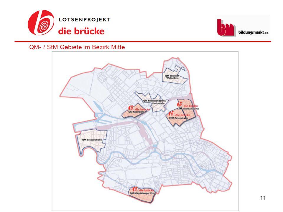 11 QM- / StM Gebiete im Bezirk Mitte