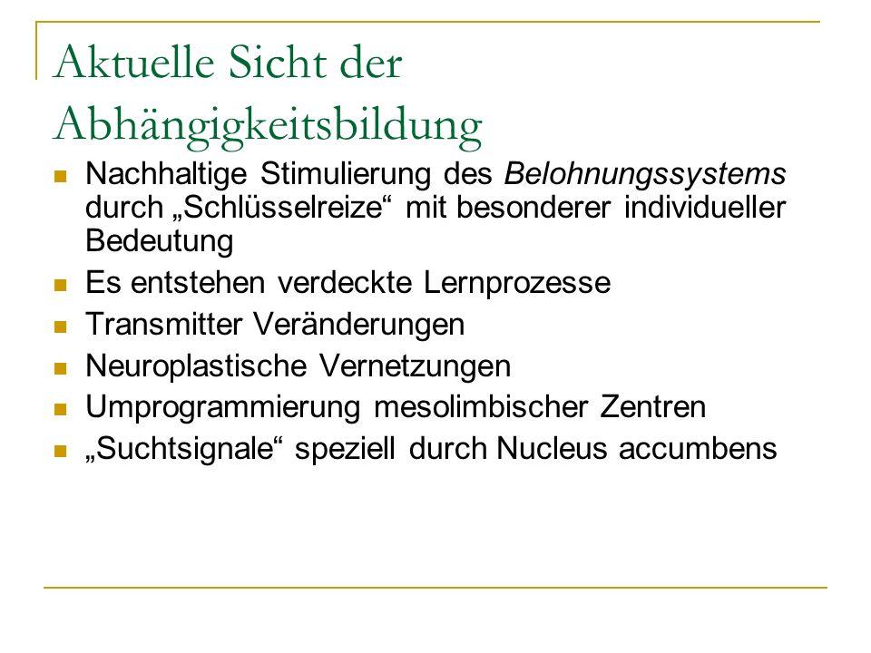 Belohnungssystem Belohnung der Präferenz für bestimmte Nahrungsmittel, Drogen bzw.