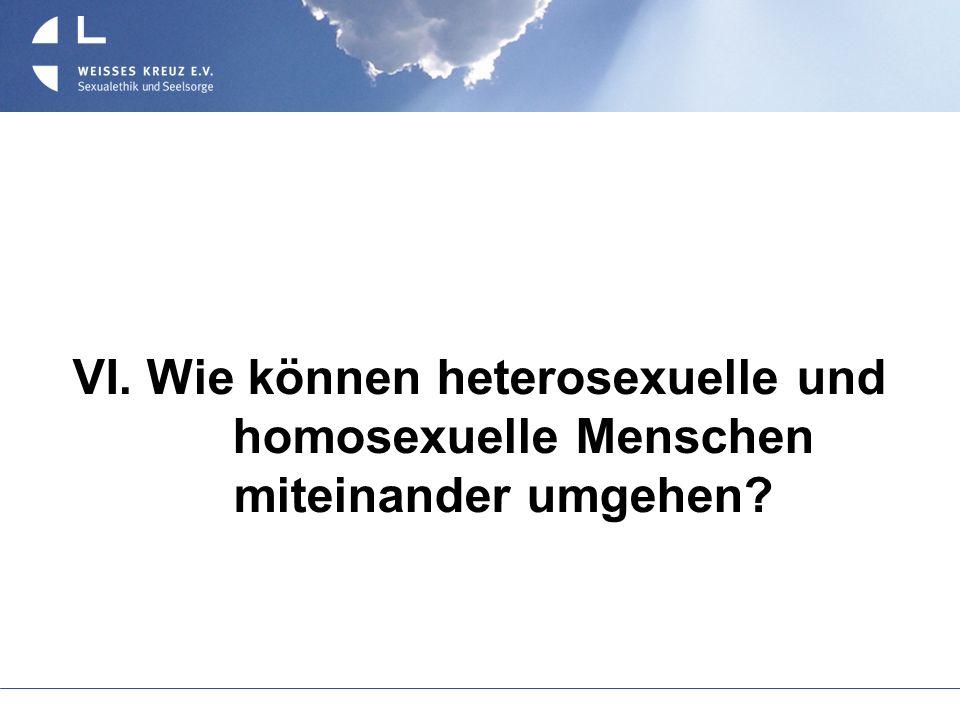 VI. Wie können heterosexuelle und homosexuelle Menschen miteinander umgehen?