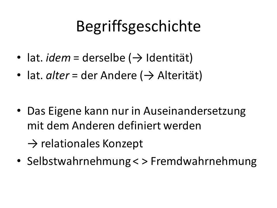 Wortbedeutung Identität = die völlige Übereinstimmung einer Person oder Sache mit dem, was sie ist oder als was sie bezeichnet wird.
