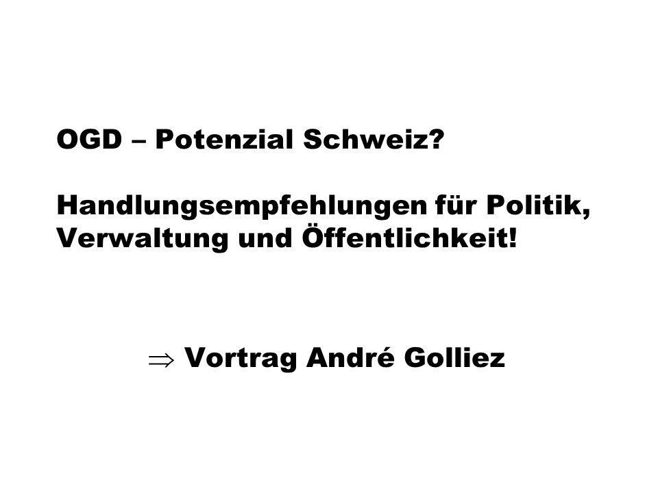OGD – Potenzial Schweiz. Handlungsempfehlungen für Politik, Verwaltung und Öffentlichkeit.