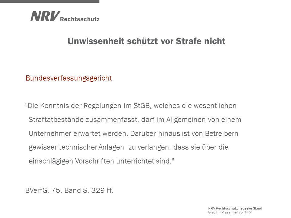 NRV Rechtsschutz neuester Stand © 2011 · Präsentiert von NRV Bundesverfassungsgericht
