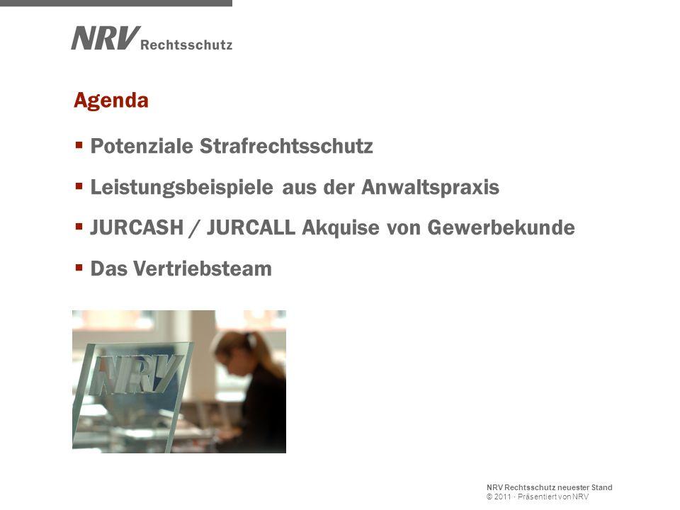 NRV Rechtsschutz neuester Stand © 2011 · Präsentiert von NRV Potenziale Strafrechtsschutz Leistungsbeispiele aus der Anwaltspraxis JURCASH / JURCALL A