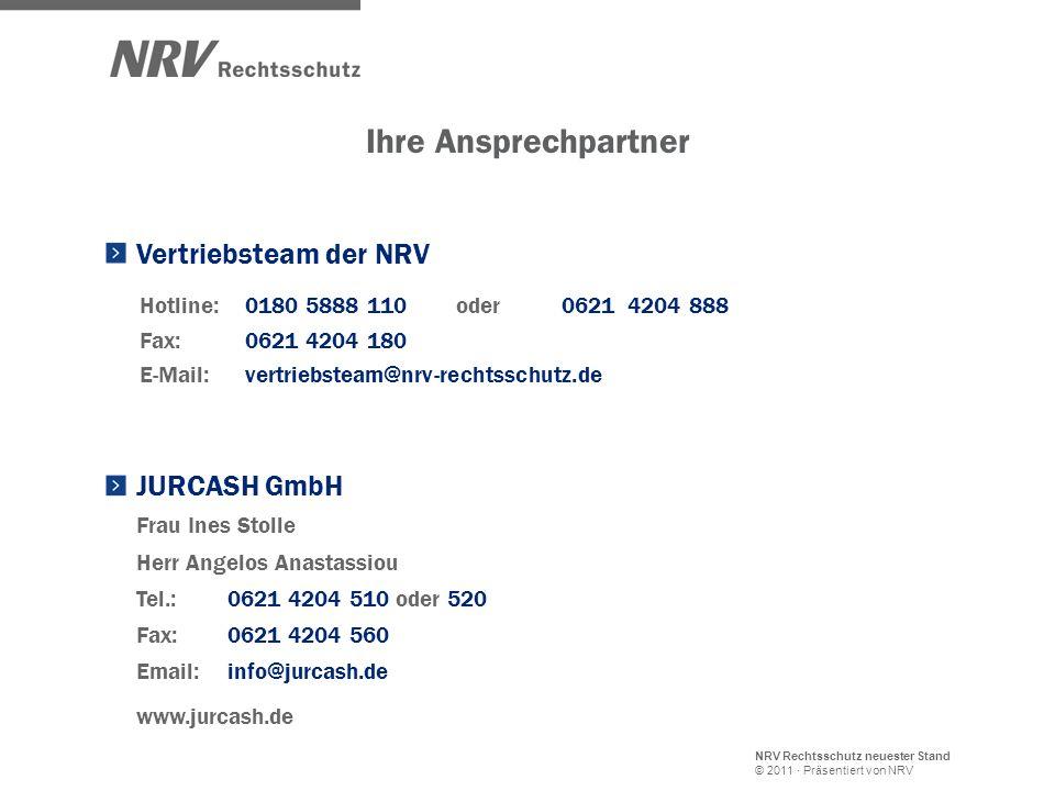 NRV Rechtsschutz neuester Stand © 2011 · Präsentiert von NRV Hotline: 0180 5888 110 oder 0621 4204 888 E-Mail:vertriebsteam@nrv-rechtsschutz.de Fax: 0