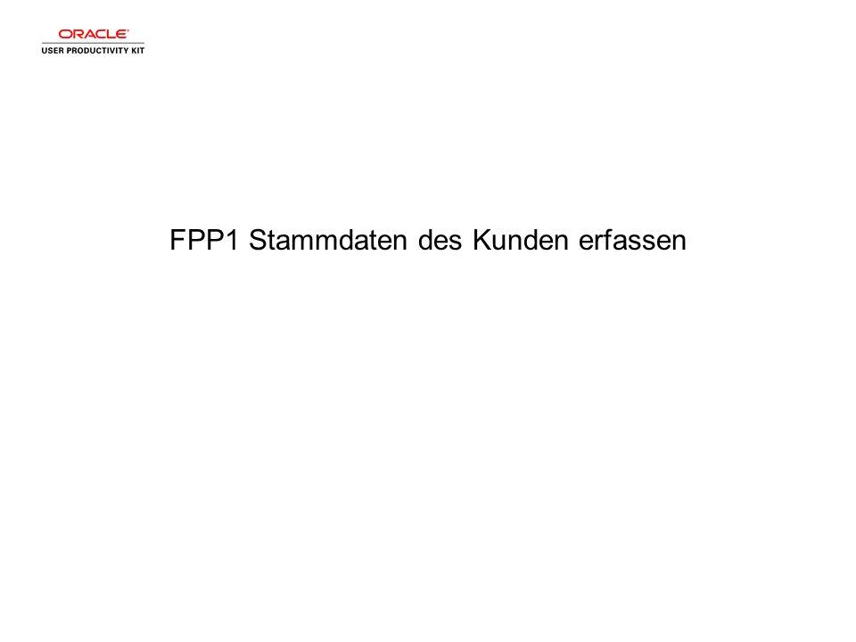 FPP1 Stammdaten des Kunden erfassen