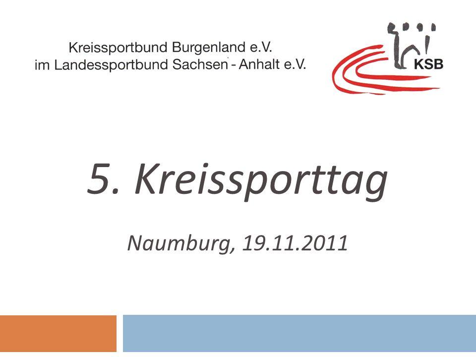 Teilnehmerzahlen an den Kindergartensportfesten von 2008 - 2011