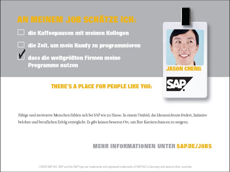 SAP AG 2005, Software and People, Steffen Laick / 34