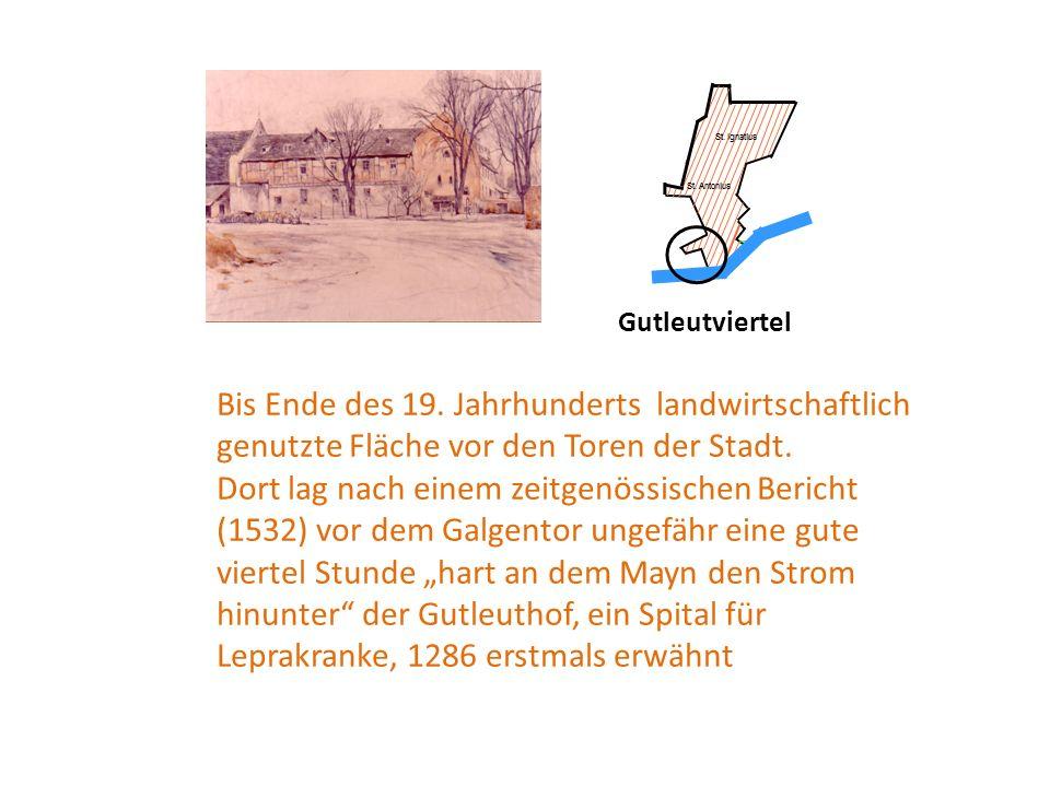 Bis Ende des 19. Jahrhunderts landwirtschaftlich genutzte Fläche vor den Toren der Stadt.