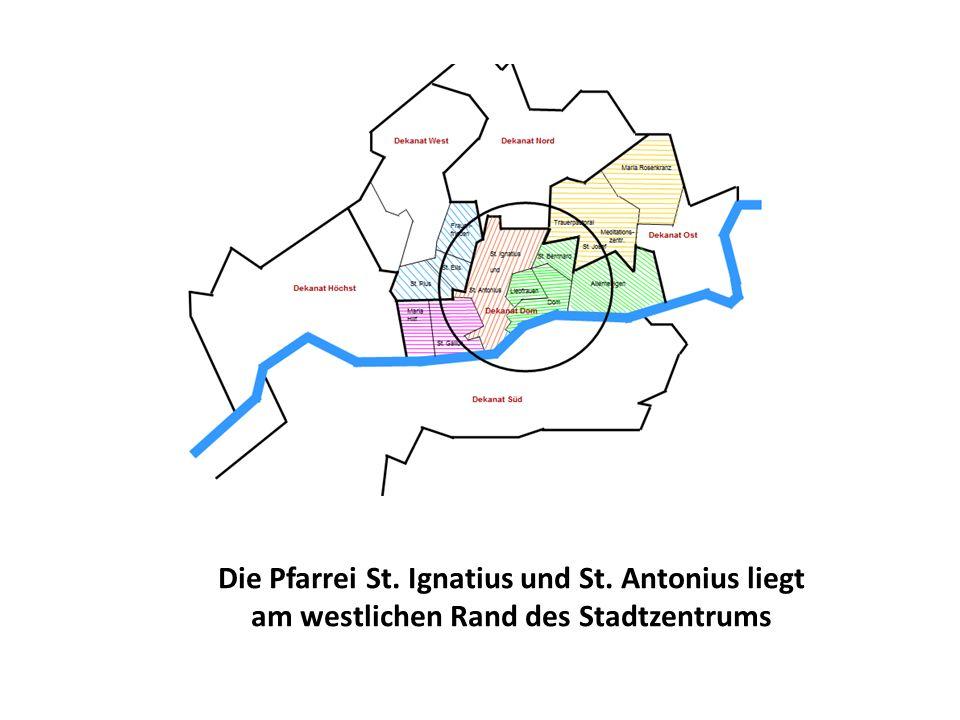 Die Pfarrei St. Ignatius und St. Antonius liegt am westlichen Rand des Stadtzentrums