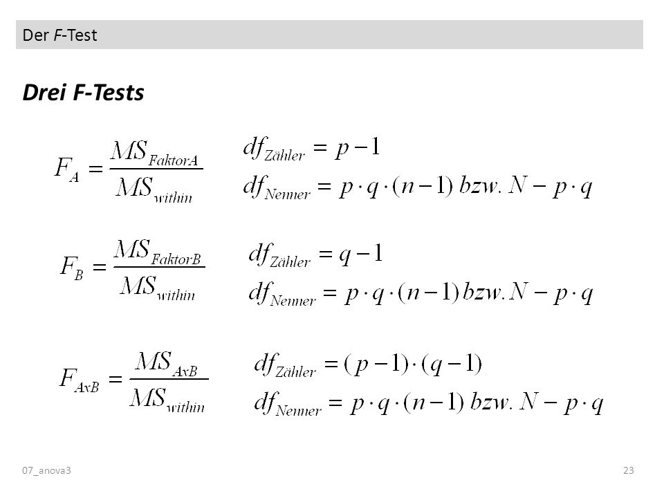 Der F-Test Drei F-Tests 07_anova323