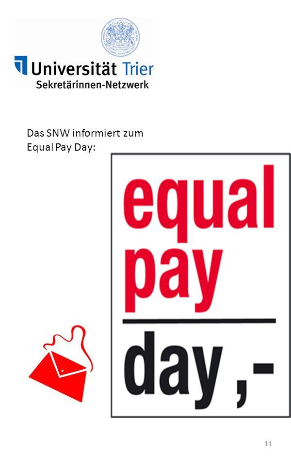 11 Das SNW informiert zum Equal Pay Day: