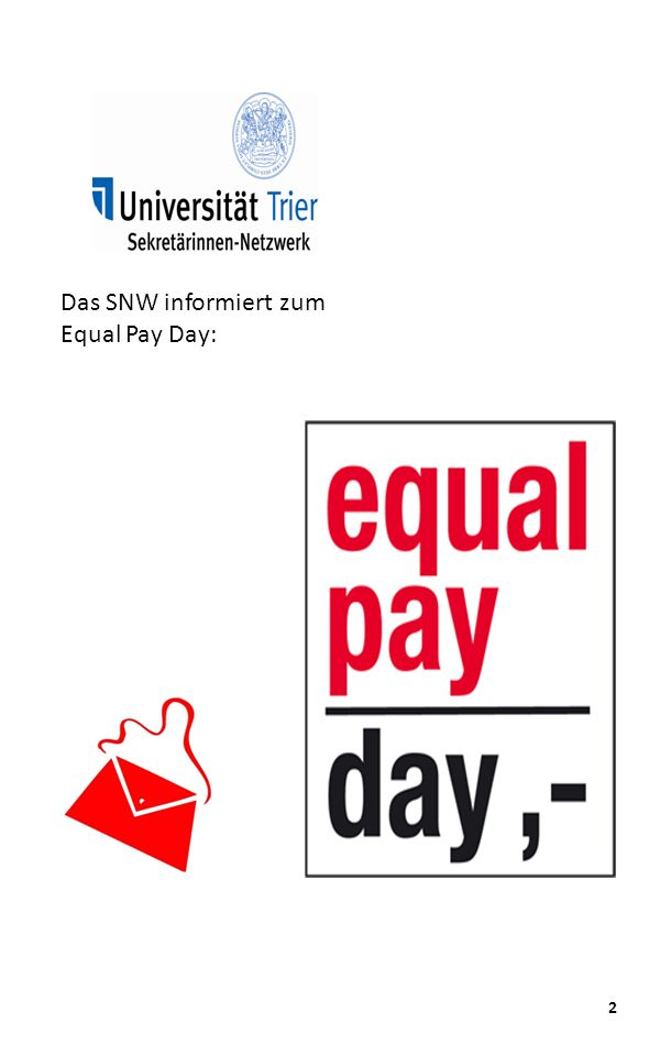 2 Das SNW informiert zum Equal Pay Day: