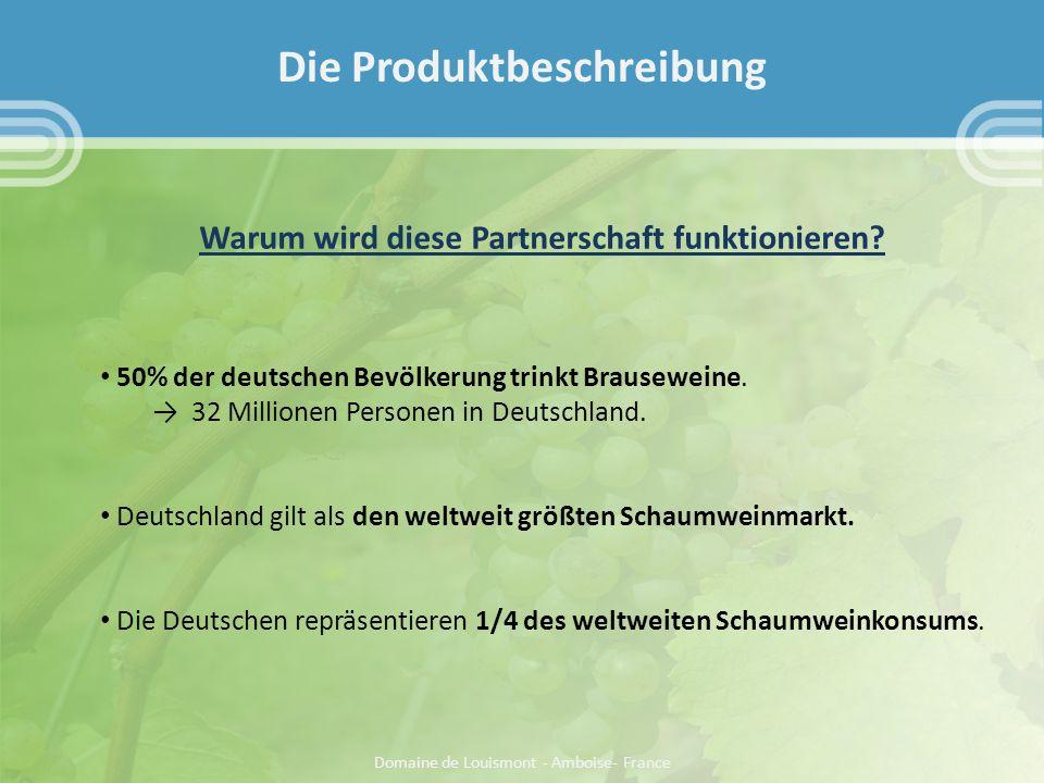 Warum wird diese Partnerschaft funktionieren. 50% der deutschen Bevölkerung trinkt Brauseweine.