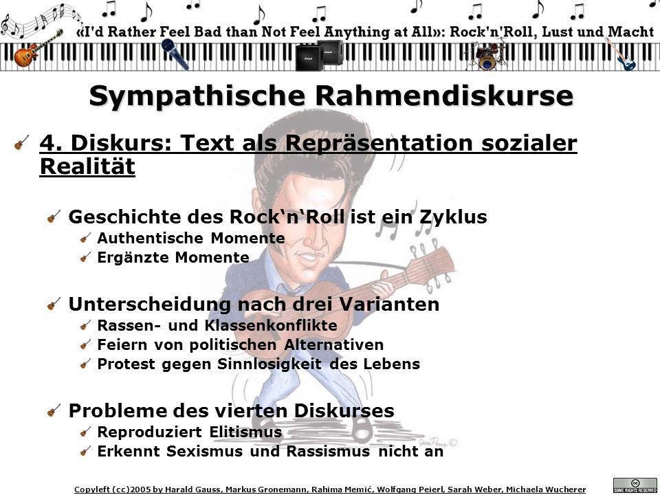 Copyleft (cc)2005 by Harald Gauss, Markus Gronemann, Rahima Memić, Wolfgang Peierl, Sarah Weber, Michaela Wucherer Sympathische Rahmendiskurse 4. Disk