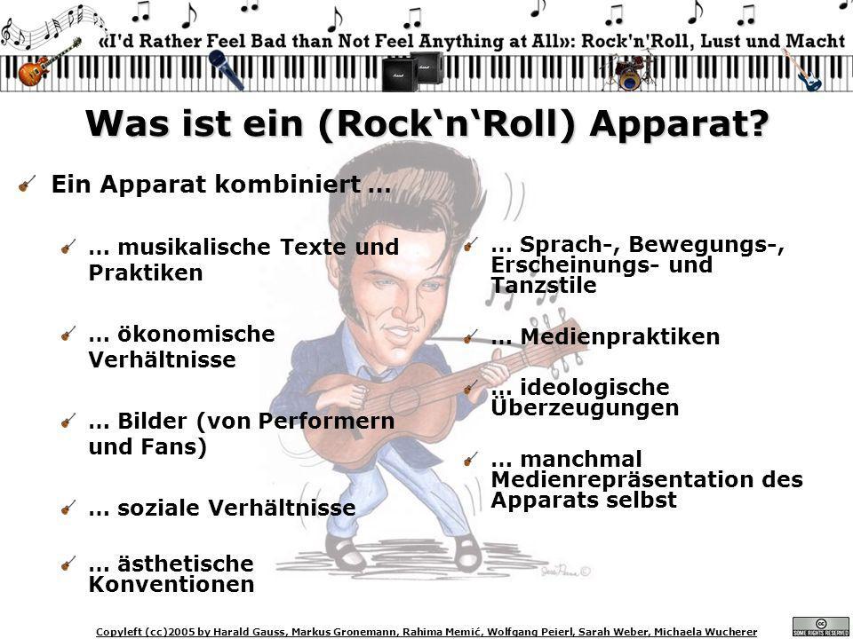 Copyleft (cc)2005 by Harald Gauss, Markus Gronemann, Rahima Memić, Wolfgang Peierl, Sarah Weber, Michaela Wucherer Was ist ein (RocknRoll) Apparat? Ei