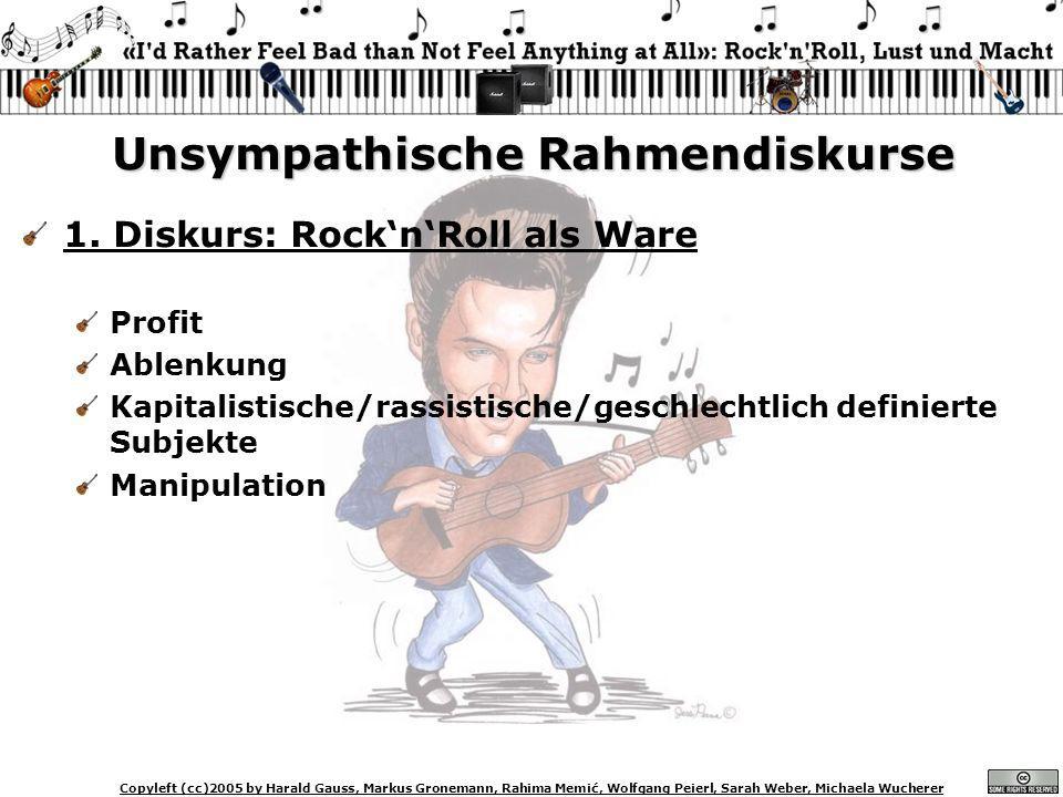 Copyleft (cc)2005 by Harald Gauss, Markus Gronemann, Rahima Memić, Wolfgang Peierl, Sarah Weber, Michaela Wucherer Unsympathische Rahmendiskurse 1. Di