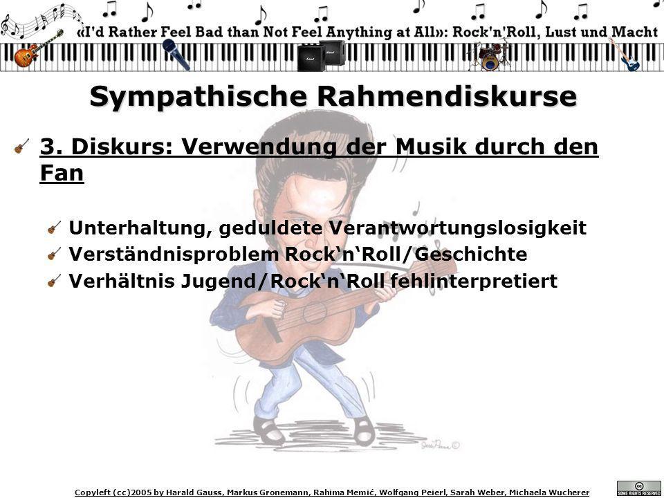 Copyleft (cc)2005 by Harald Gauss, Markus Gronemann, Rahima Memić, Wolfgang Peierl, Sarah Weber, Michaela Wucherer Sympathische Rahmendiskurse 3. Disk