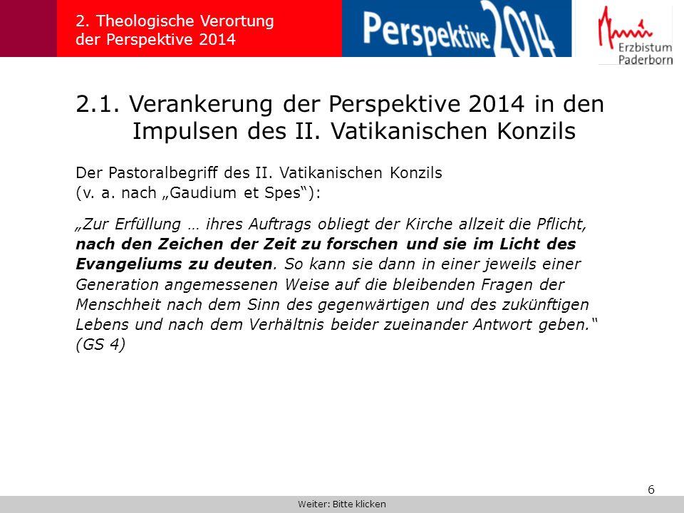 57 5.2.Reform der pastoralen Strukturen 5.