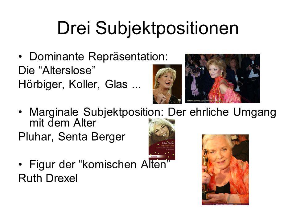 Drei Subjektpositionen Dominante Repräsentation: Die Alterslose Hörbiger, Koller, Glas...