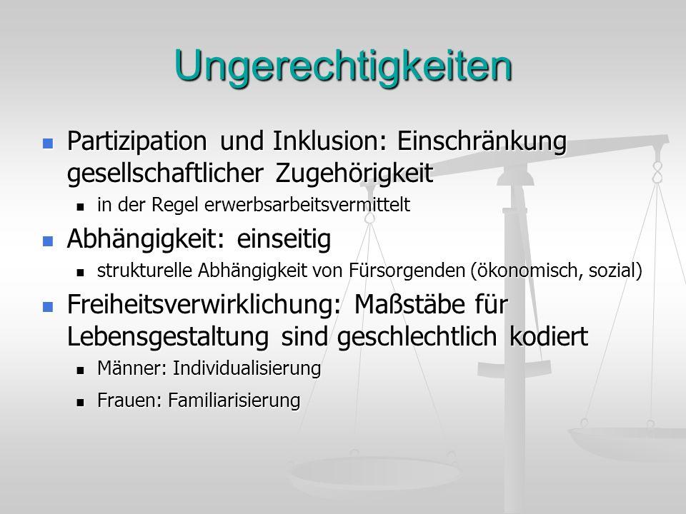 Ungerechtigkeiten Partizipation und Inklusion: Einschränkung gesellschaftlicher Zugehörigkeit Partizipation und Inklusion: Einschränkung gesellschaftl
