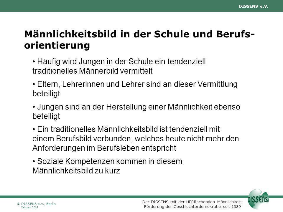 Der DISSENS mit der HERRschenden Männlichkeit Förderung der Geschlechterdemokratie seit 1989 DISSENS e.V. Februarr 2008 © DISSENS e.V., Berlin Männlic