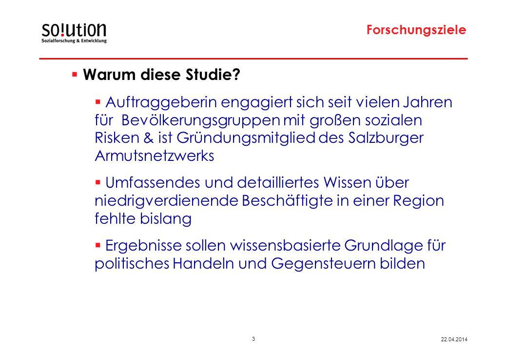 3 22.04.2014 Forschungsziele Warum diese Studie.