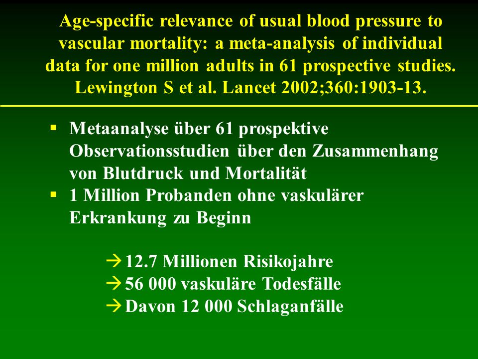 Age-specific relevance of usual blood pressure to vascular mortality: a meta-analysis of individual data for one million adults in 61 prospective stud