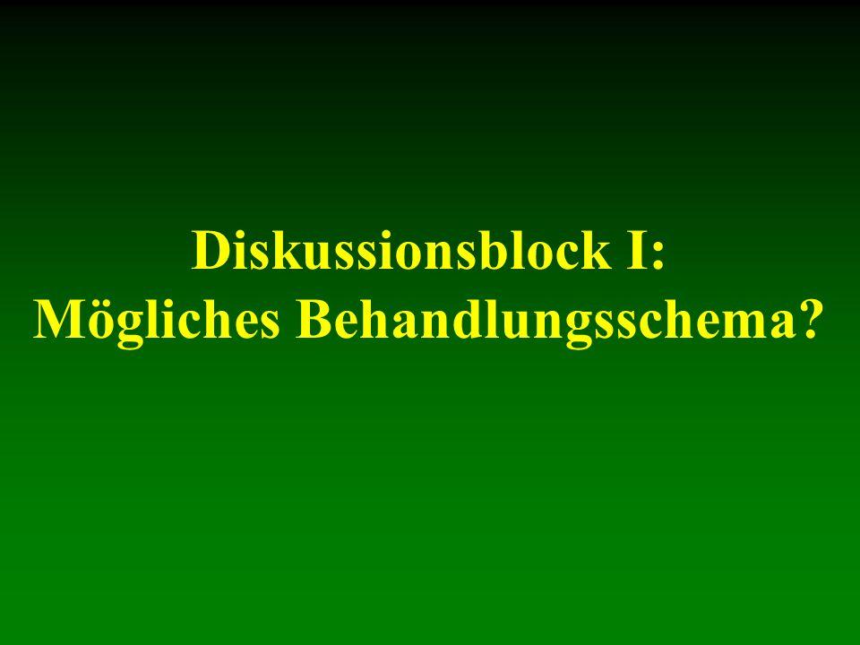 Diskussionsblock I: Mögliches Behandlungsschema?