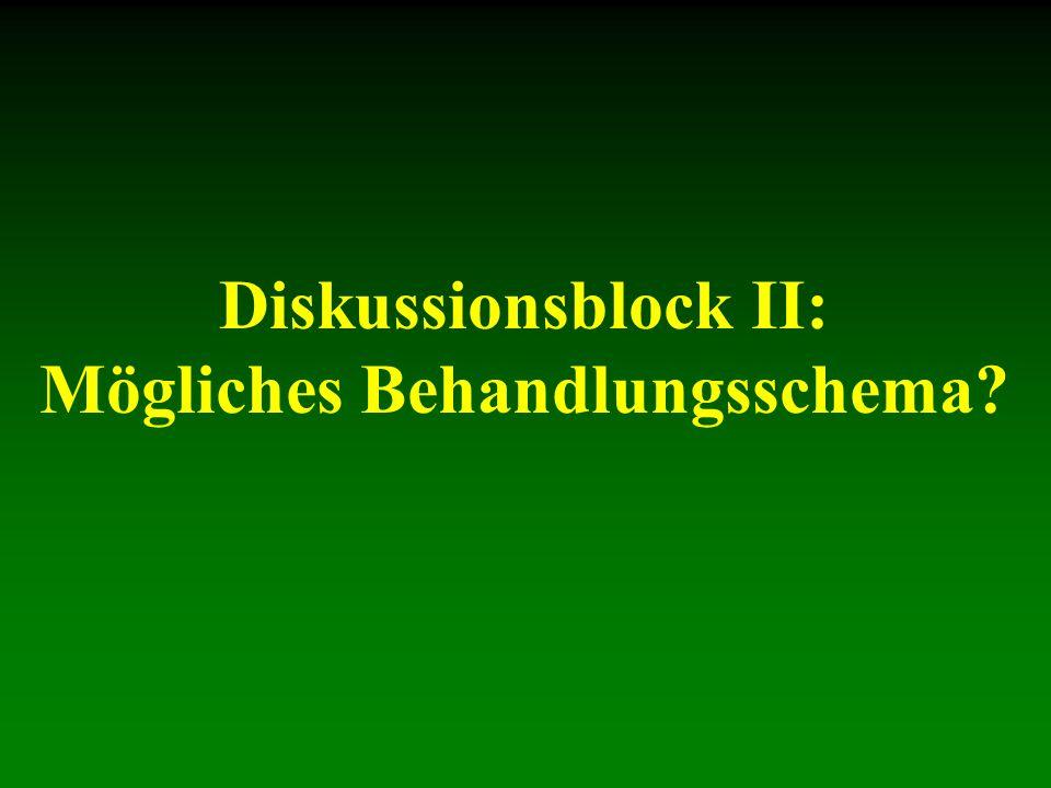 Diskussionsblock II: Mögliches Behandlungsschema?