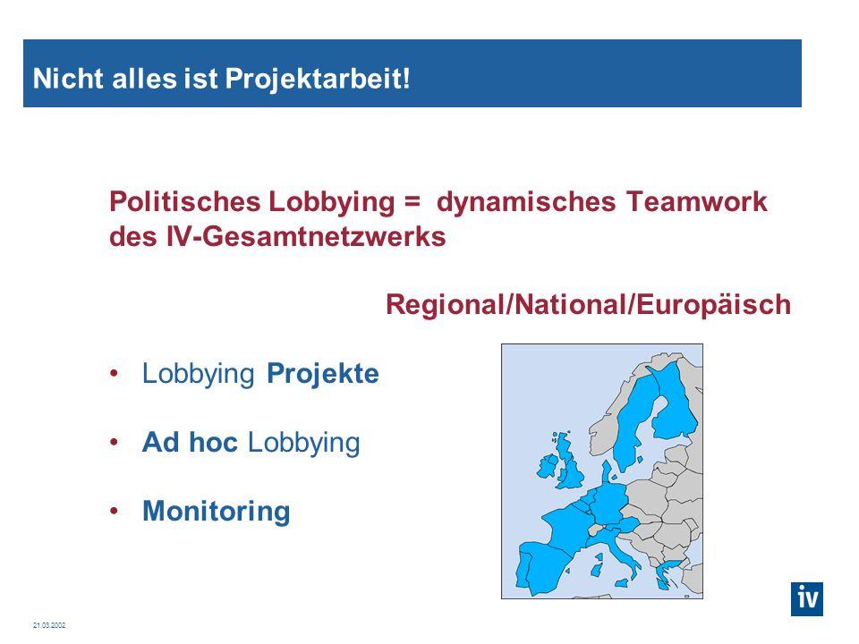 21.03.2002 Was ist ein Lobbying Projekt.