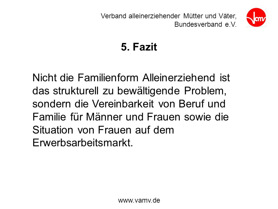 Verband alleinerziehender Mütter und Väter, Bundesverband e.V.