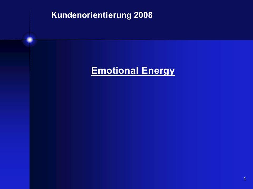 1 Kundenorientierung 2008 Emotional Energy