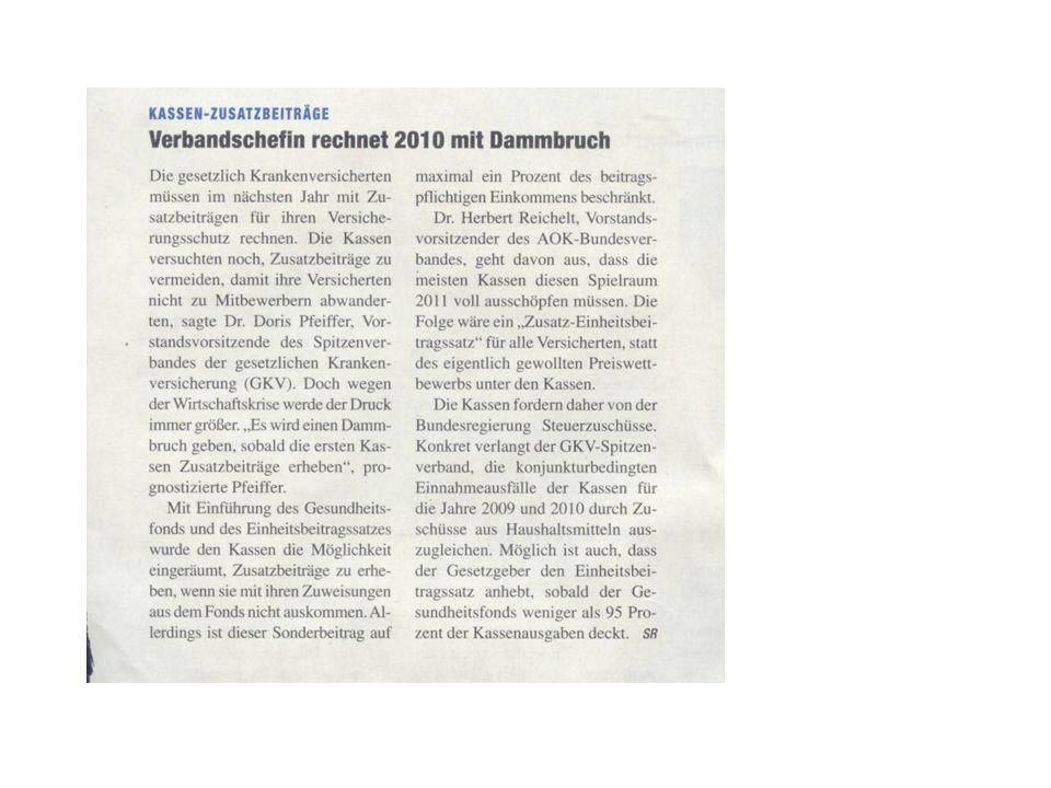 Wahlprogramme der Parteien SPD –Ausbau der integrierten Versorgung –Weiter Öffnung der Krankenhäuser für die amb.