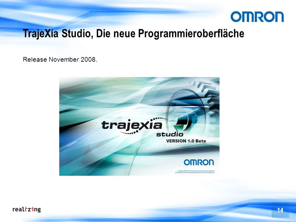 14 TrajeXia Studio, Die neue Programmieroberfläche Release November 2008.