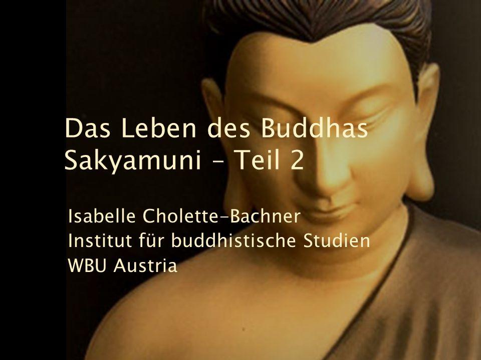 Das Rad der Lehre Buddha saß lange Zeit unter dem Bodhi-Baum.