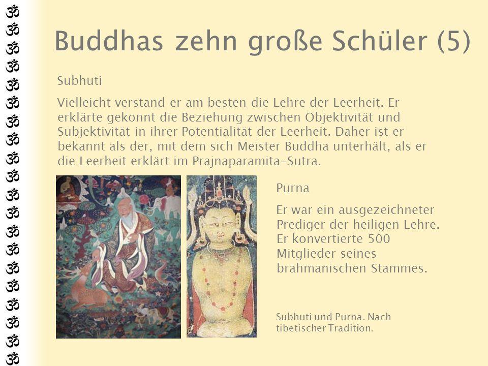 Buddhas zehn große Schüler (6) Rahula Er war Buddhas einziger Sohn.