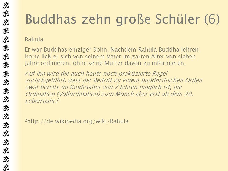 Zitaten zu den Schülern Über Maha-Moggallana: Homage to him...